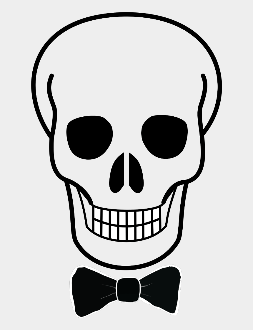 sugar skull clipart black and white, Cartoons - Easy Simple Skull Drawing Clipart , Png Download - Easy Simple Skull Drawing