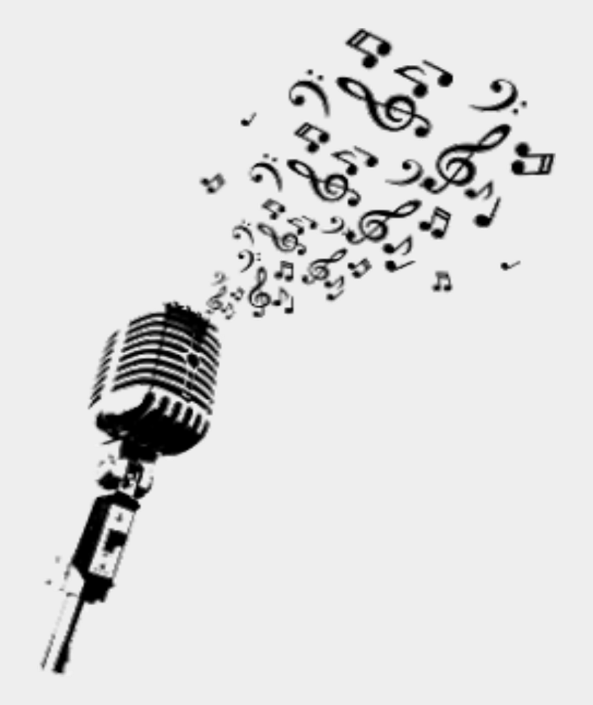 microphone with music notes clipart, Cartoons - #microphone #music #musicnotes #sing #notes - Microphone With Music Notes Png