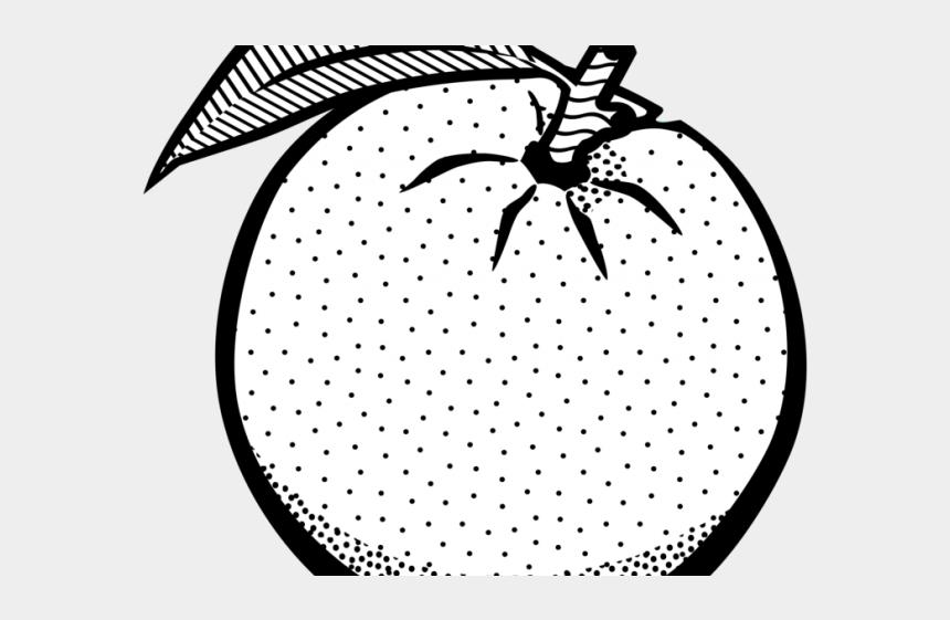 ham clipart black and white, Cartoons - Orange Clipart Black And White - Orange Fruit Clip Art Black And White