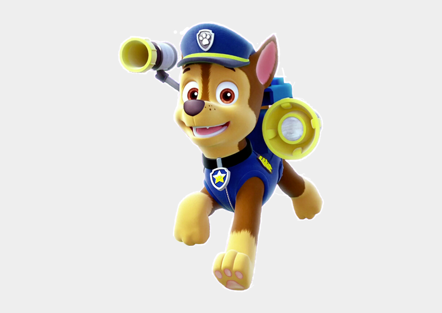 paw patrol bone clipart, Cartoons - Paw Patrol Chase Png - Chase Paw Patrol Png