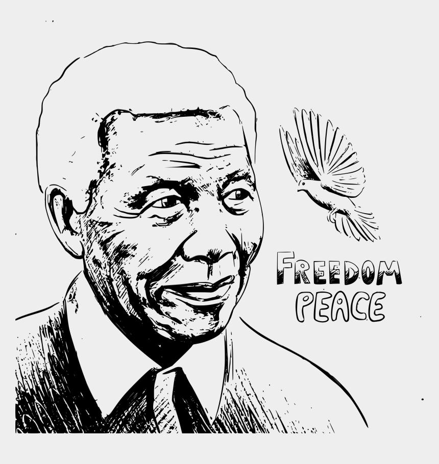 freedom of religion clipart, Cartoons - Nelson Mandela Portrait Sketch Vector Clipart Image - Nelson Mandela