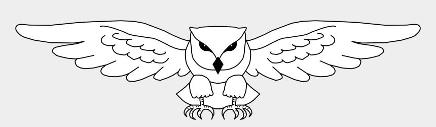 simple wings clipart, Cartoons - Simple Owl Line Drawing - Owl Wings Drawing Easy