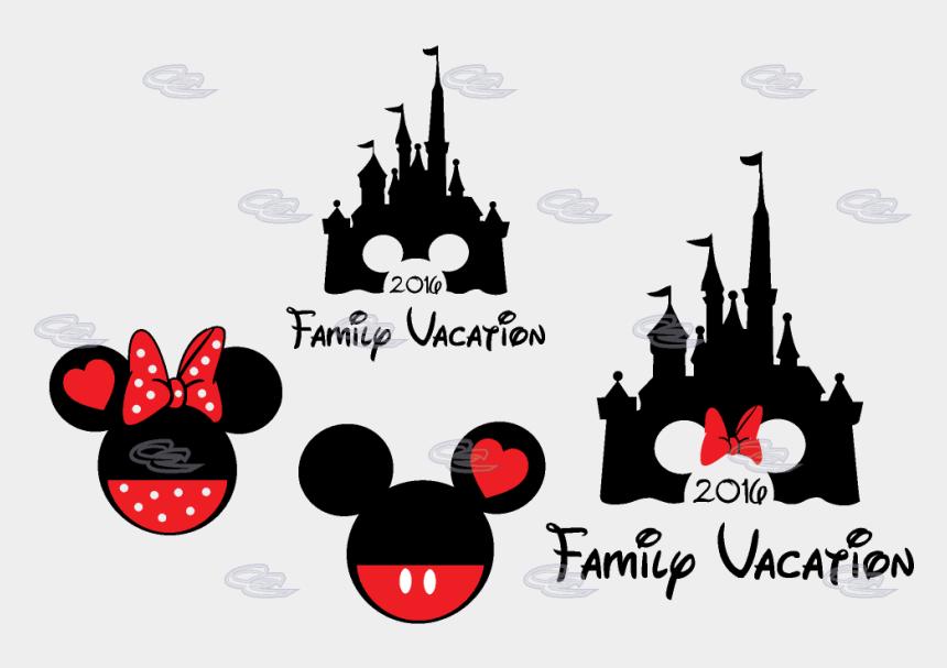 cinderella's castle clipart, Cartoons - Cinderella Castle Mickey Head Family Vacation Custom - Disney Castle With Mickey