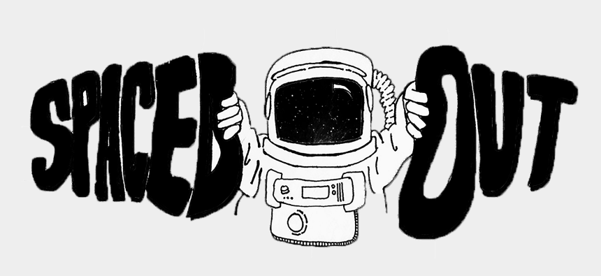 astronaut clipart black and white, Cartoons - Spaced Out