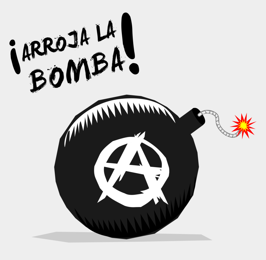 bomb clipart black and white, Cartoons - Anarchist Symbol Png - Anarchy