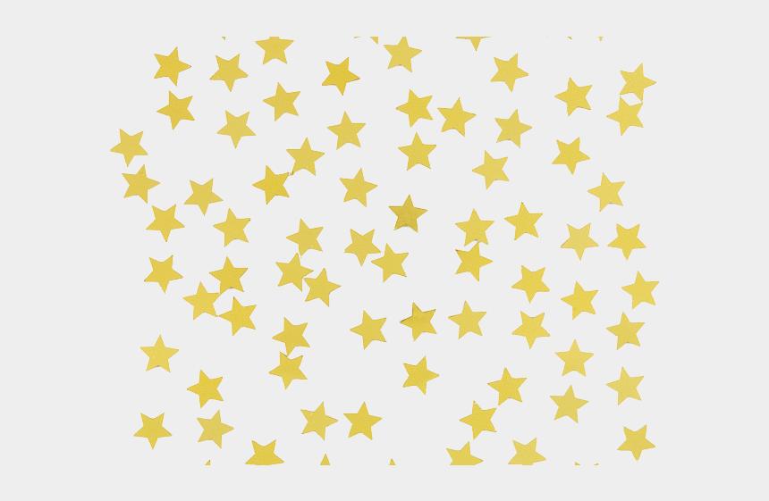 confetti clipart transparent, Cartoons - Confetti Clipart Star - Gold Star Sticker Png