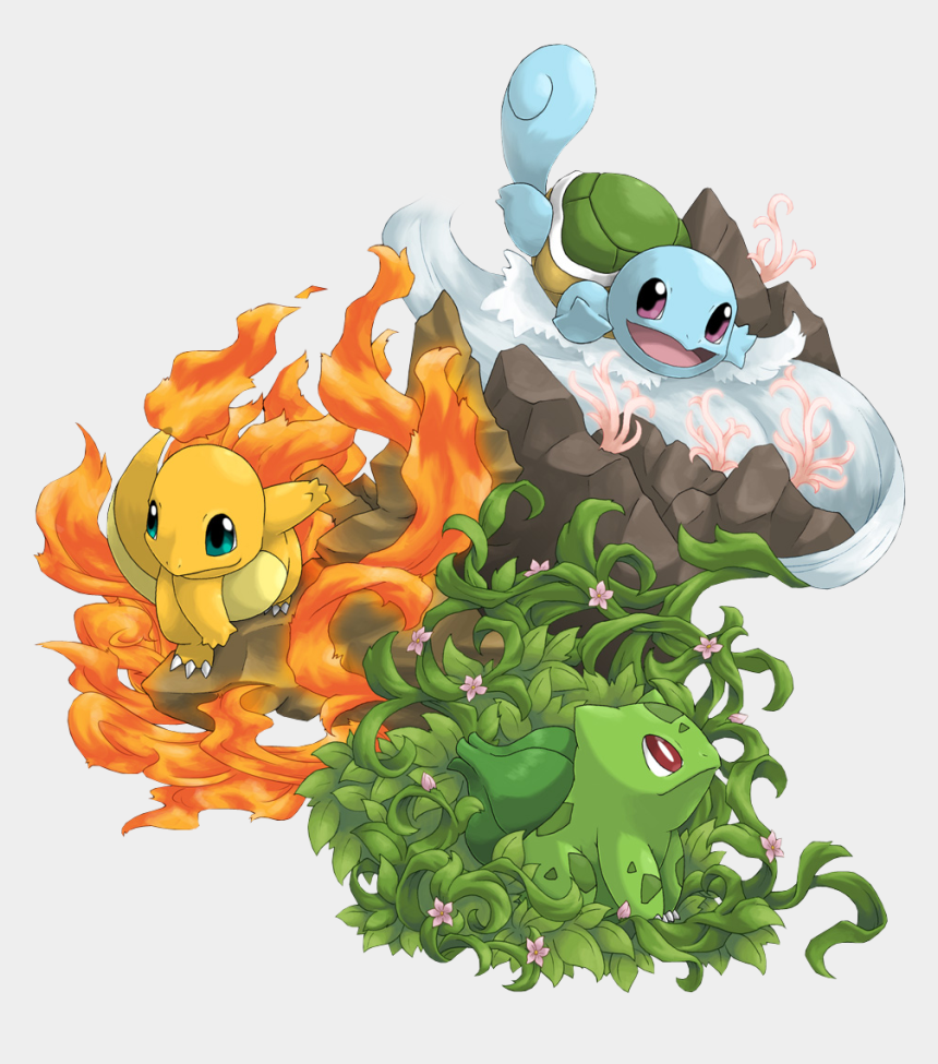 Pokemon Shiny Charmander Bulbasaur Squirtle Grass