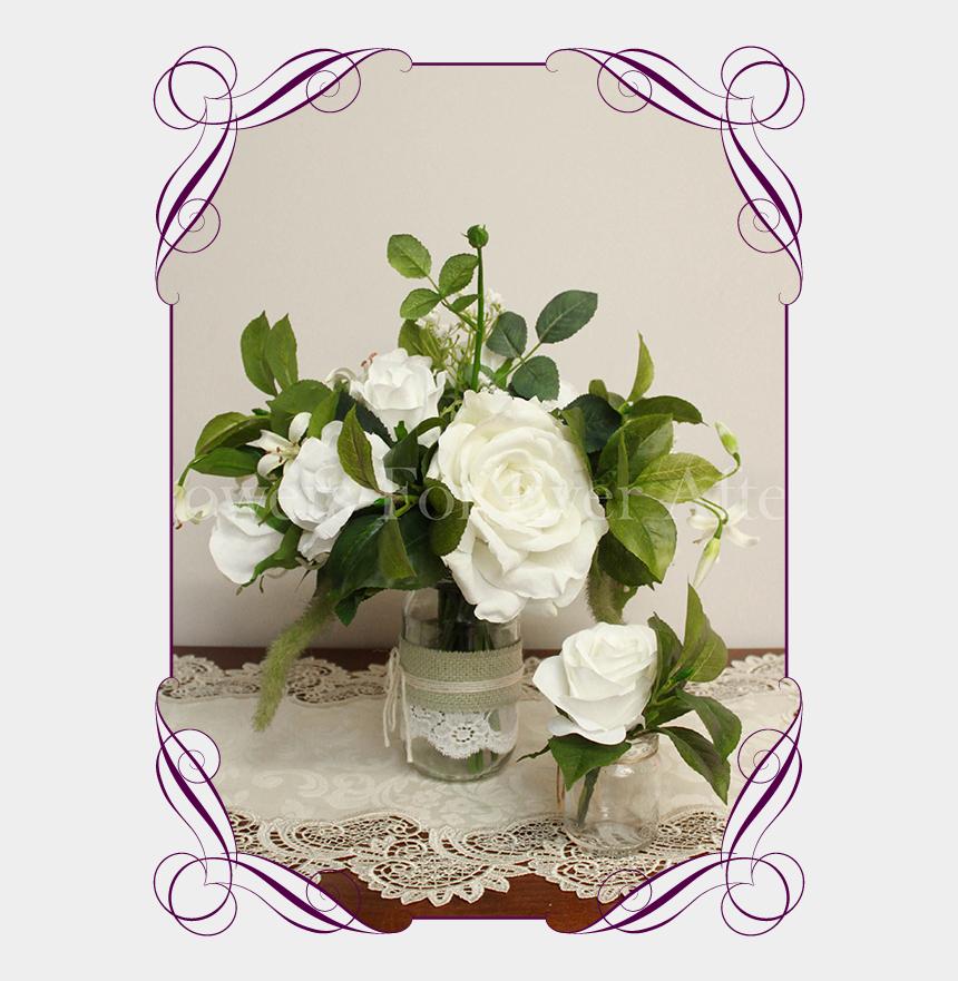 flower bouquet clipart black and white, Cartoons - Mason Jar Flowers Png - Garden Roses