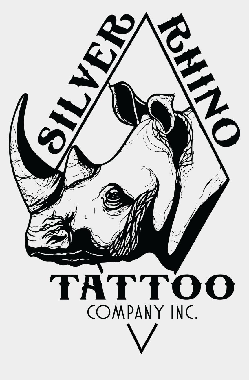 rhino clipart black and white, Cartoons - Rhinos Drawing Easy - Rhino Tattoo Clip Art