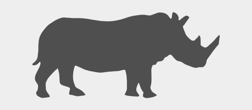 rhino clipart black and white, Cartoons - Save The Rhinos Clipart