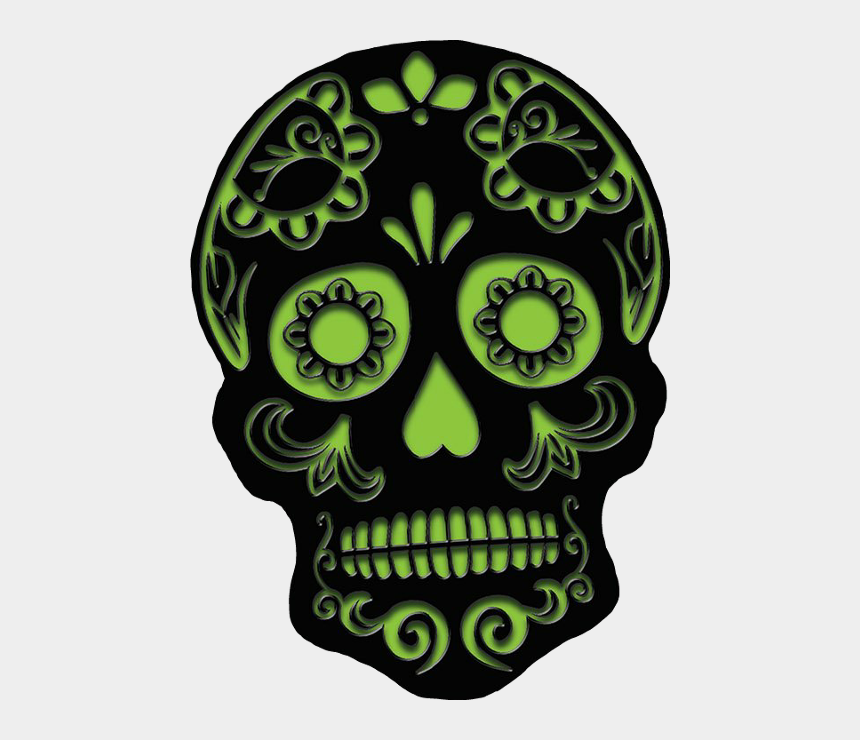 dia de los muertos banner clipart, Cartoons - Sugar Skull Cut Out