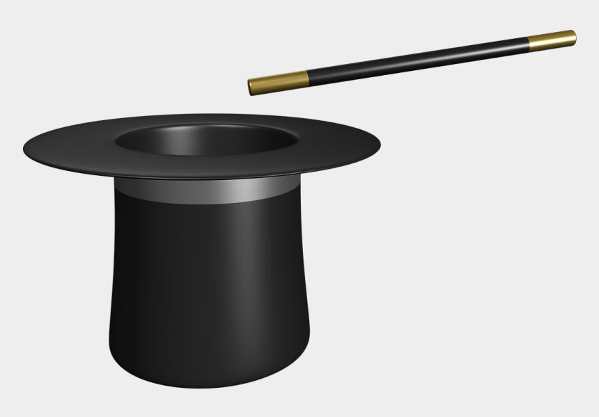 wand clipart black and white, Cartoons - Magician, Magic, Wand, Hat, Trick, Top - Sombrero De Magia Gif