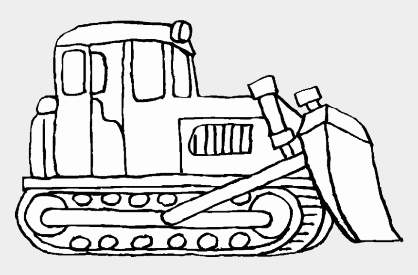 excavator clipart black and white, Cartoons - Bulldozer Colouring Page - Bulldozer Printable Coloring Pages