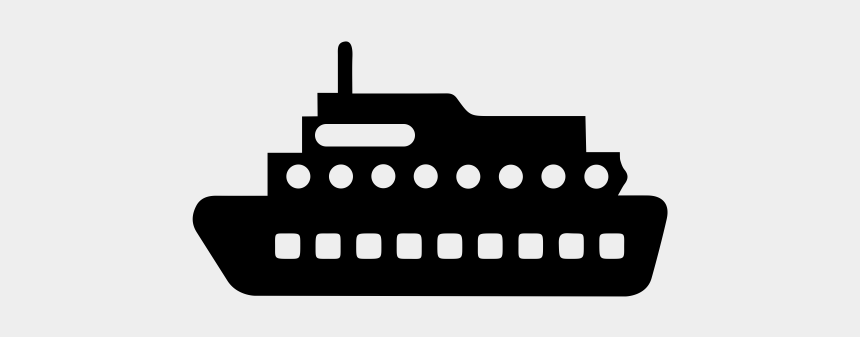 cruise ship clipart black and white, Cartoons - Steamboat