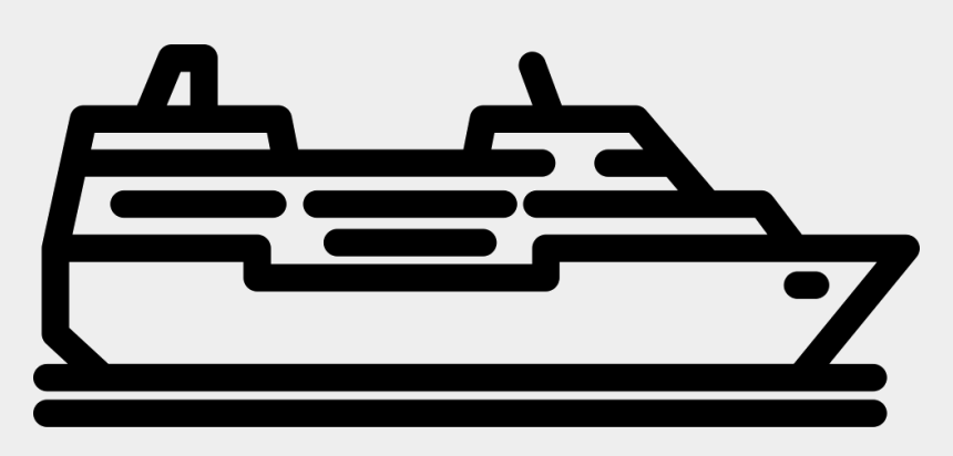 cruise ship clipart black and white, Cartoons - Cruise Ship Black And White Png - Cruise Ship Icon Transparent