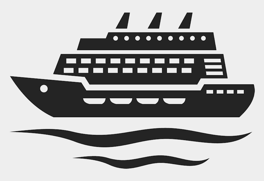 cruise ship clipart black and white, Cartoons - I'm On A Boat Stamp - Cruise Ship Icon Png
