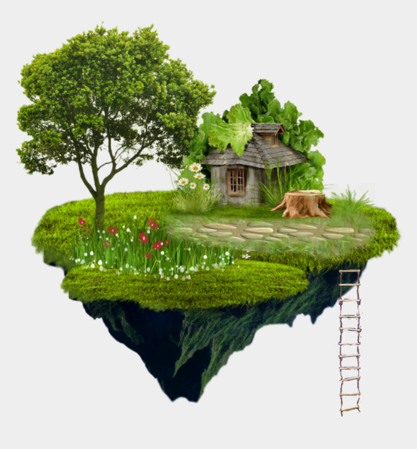 rural community clipart, Cartoons - Island Sticker - Royalty Free Tree Png