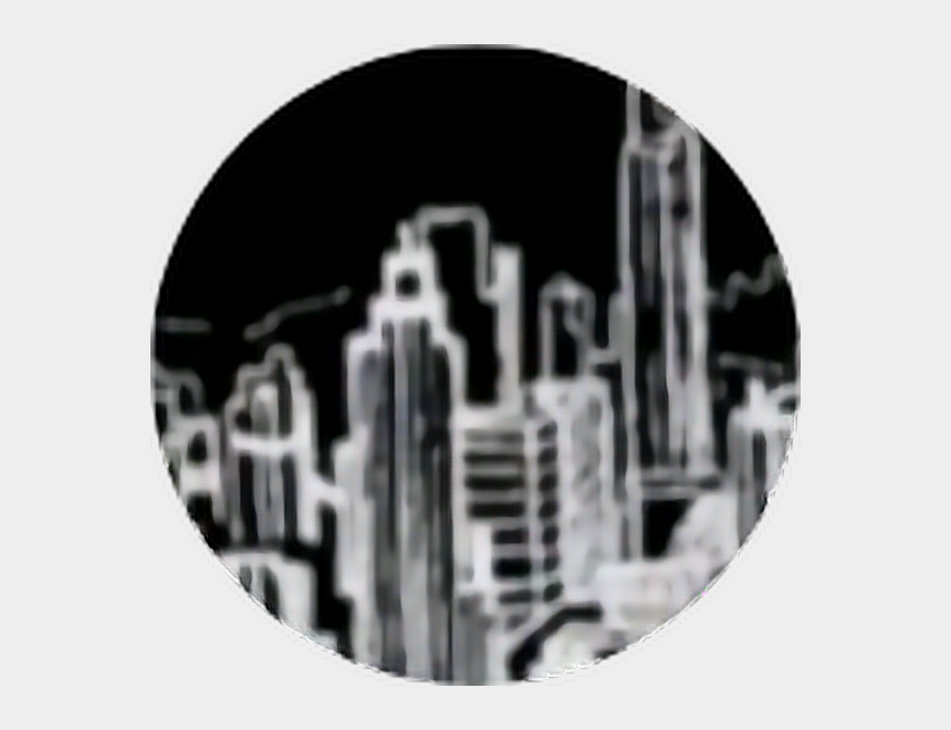 City Skyline Skyscraper Black Outline White Circle Aesthetic Black And White Cliparts Cartoons Jing Fm