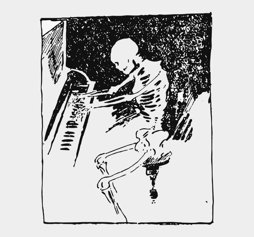 simple skeleton clipart, Cartoons - Drawing Creativity Skeleton - Retro Skeleton