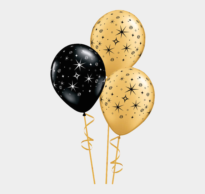 birthday balloons clipart no background, Cartoons - Balloons Png Golden - Gold Balloon Transparent Png