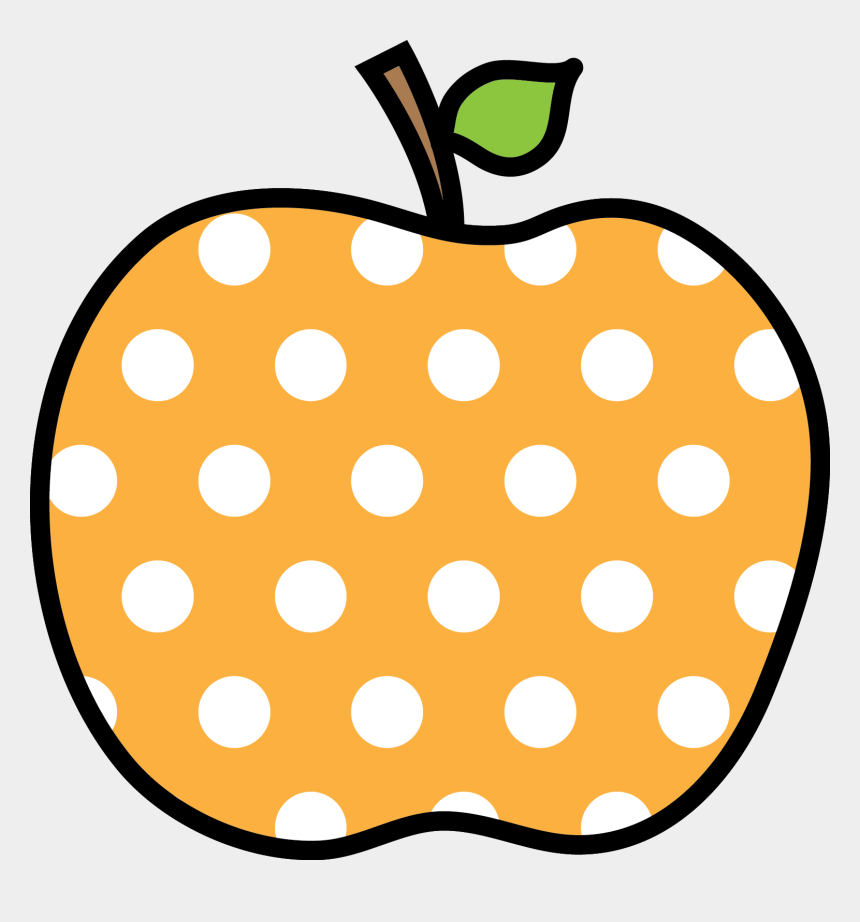 polka dot apple clipart, Cartoons - Polka Dot Apple Clipart