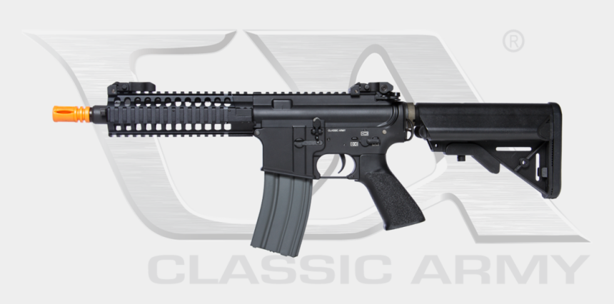 assault rifle clipart, Cartoons - M16 Full Stock Png - Lancer Tactical Lt 107