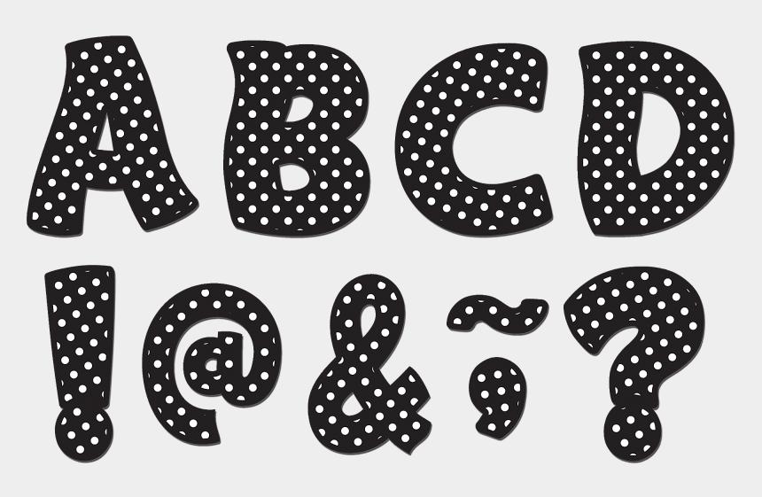 "polka dot apple clipart, Cartoons - Tcr77216 Black Polka Dots Funtastic Font 3"" Magnetic - Polka Dot"