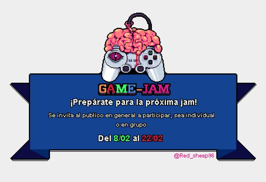 jugar videojuegos clipart, Cartoons - Game Jam Mentes En Juegos - Banner Back To School Png