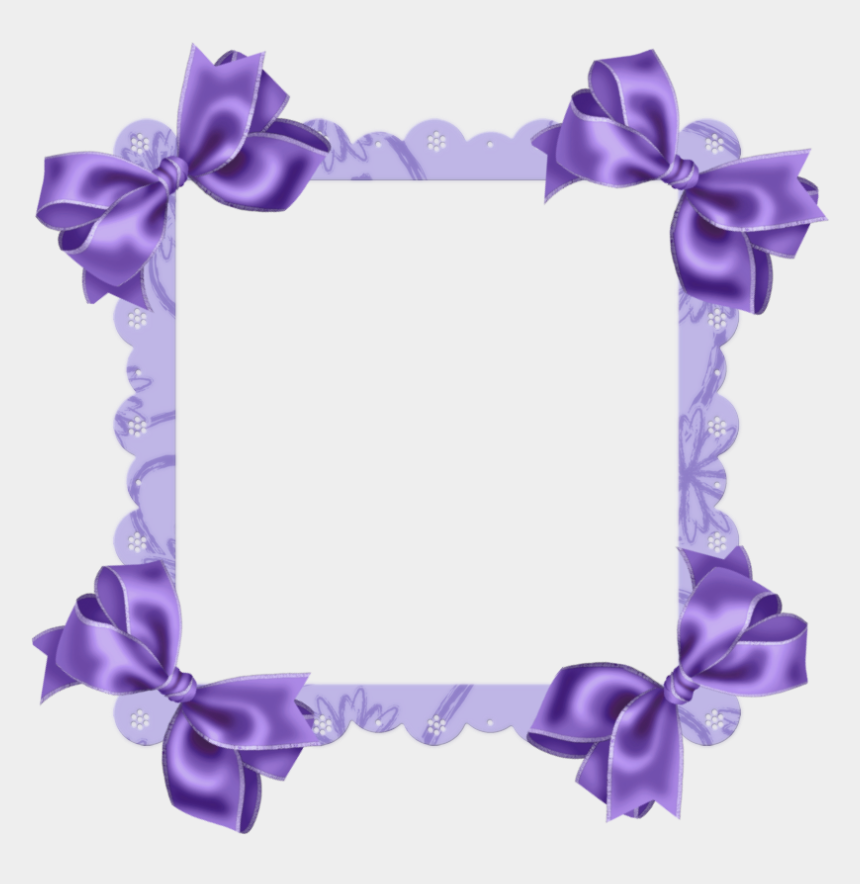lace clip art, Cartoons - Purple Transparent Frame With Bow - Frame Free Download Transparent Design Clip Art
