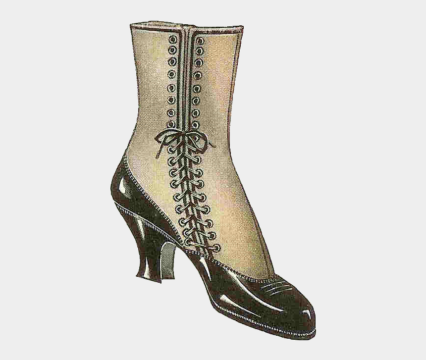 lace clip art, Cartoons - I Love This Piece Of Vintage Shoe Clip Art This 1915 - Boot