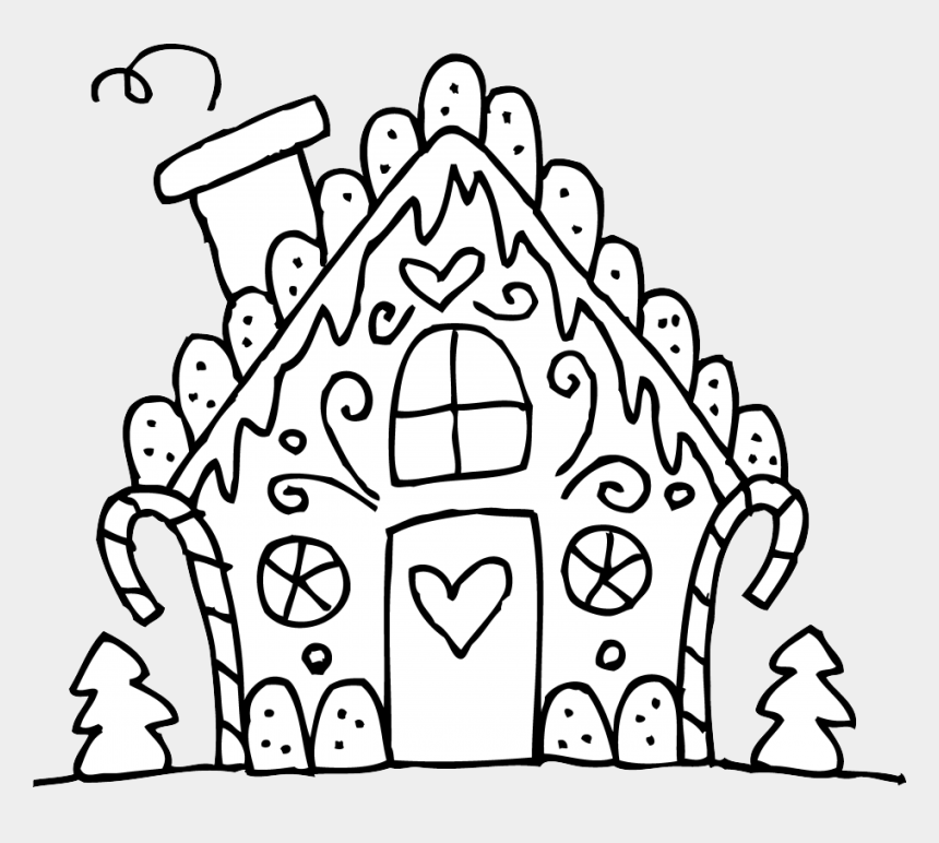 school house clipart, Cartoons - Gingerbread House Clipart Black And White Clipartxtras - Simple Gingerbread House Clipart