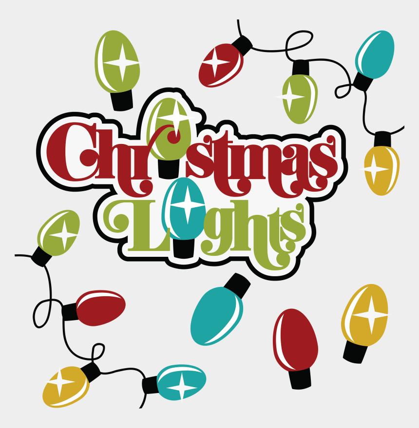 christmas light clip art, Cartoons - Christmas Lights Png File - Christmas Lights Scrapbook Title