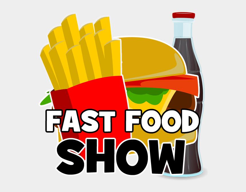french fries clip art, Cartoons - Fast Food Show Logo Splash - Junk Food