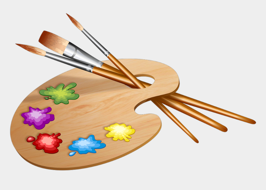 paint palette clip art, Cartoons - Paint Brushes The Palette Painting Colored - Easter Themed Paint Party