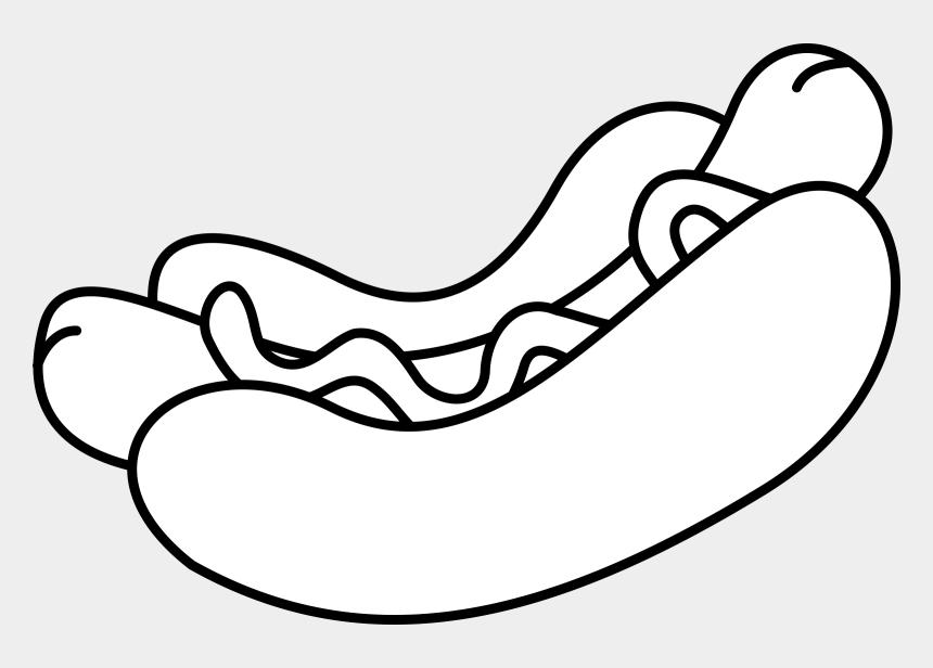 Hot Dog Hamburger White Hot French Fries Hotdog Black And White Cliparts Cartoons Jing Fm