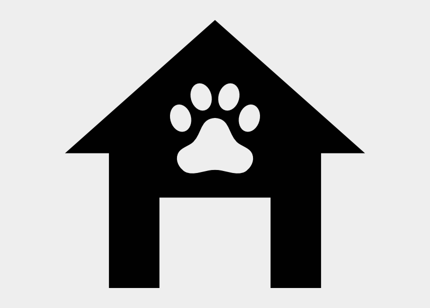 school house clipart, Cartoons - Dog - House - Clipart - Black - And - White - Silhouette Dog House Clipart