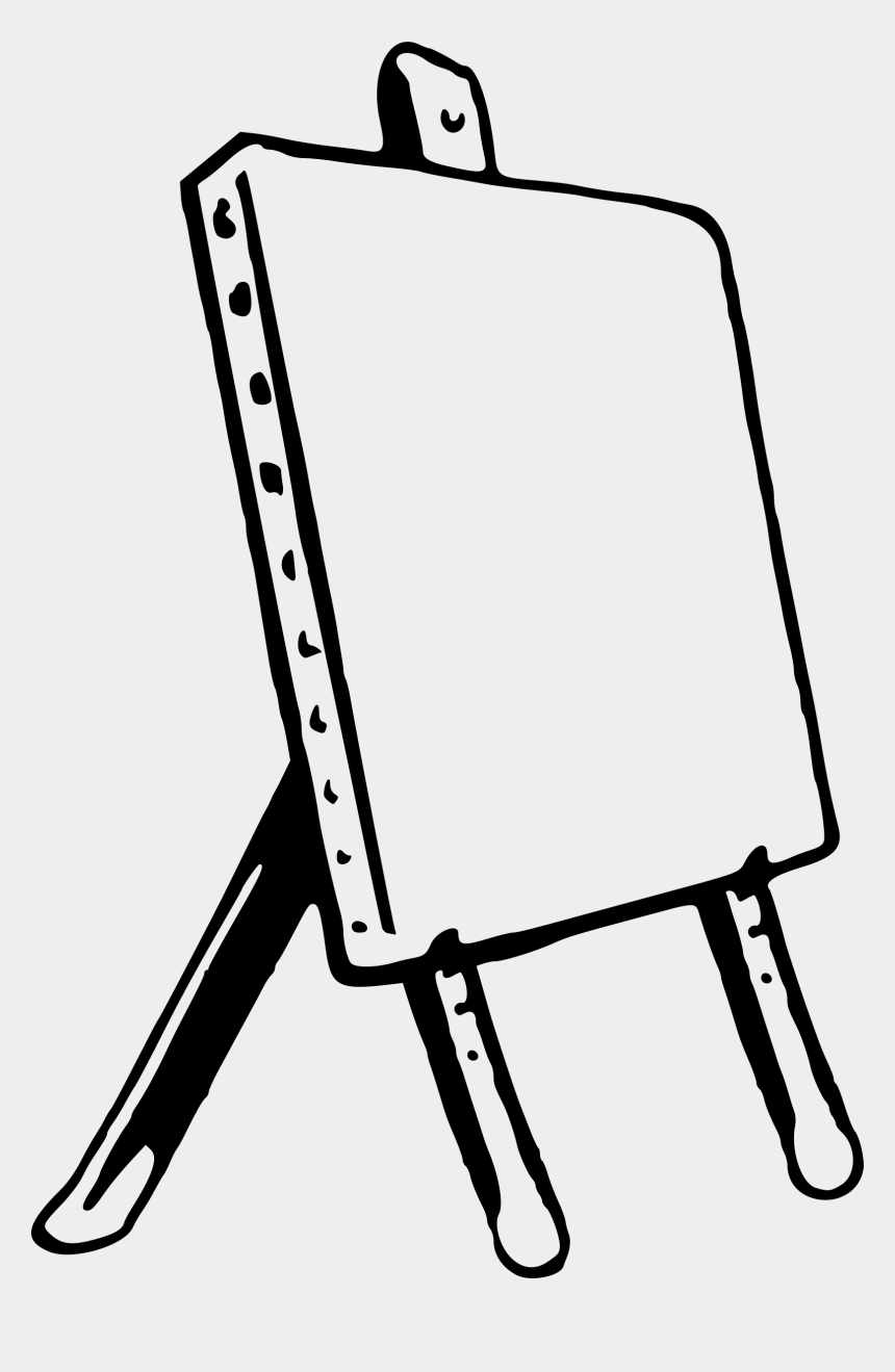 paint palette clip art, Cartoons - Unlimited Easel Coloring Page Cute Dinosaur Artist - Easy To Draw Easel