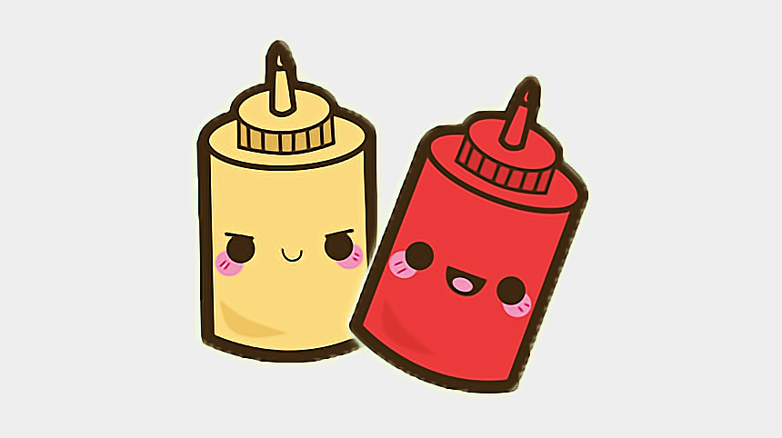 ketchup clipart, Cartoons - #love #ketchup #senfmitketchup #senf #cute #sweet #friendsforever - Cute Kawaii Food Drawings