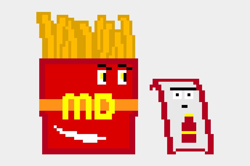 french fries clip art, Cartoons - When Mcdonalds French Fries Meet Kechup - Mcdonalds Fries Pixel