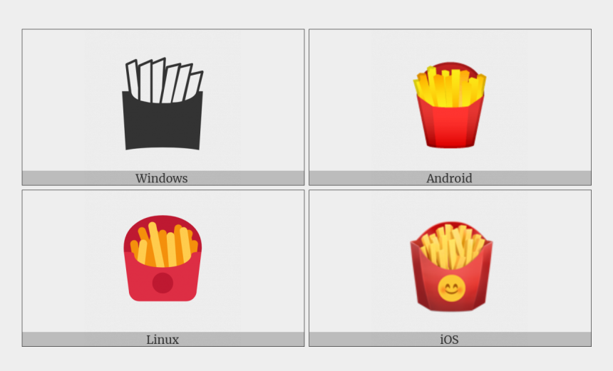 french fries clip art, Cartoons - French Fries On Various Operating Systems - French Fries