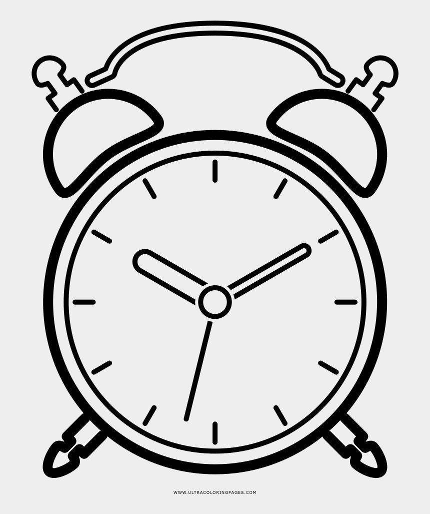 alarm clock clip art, Cartoons - Alarm Clock Coloring Page - Alarm Clock