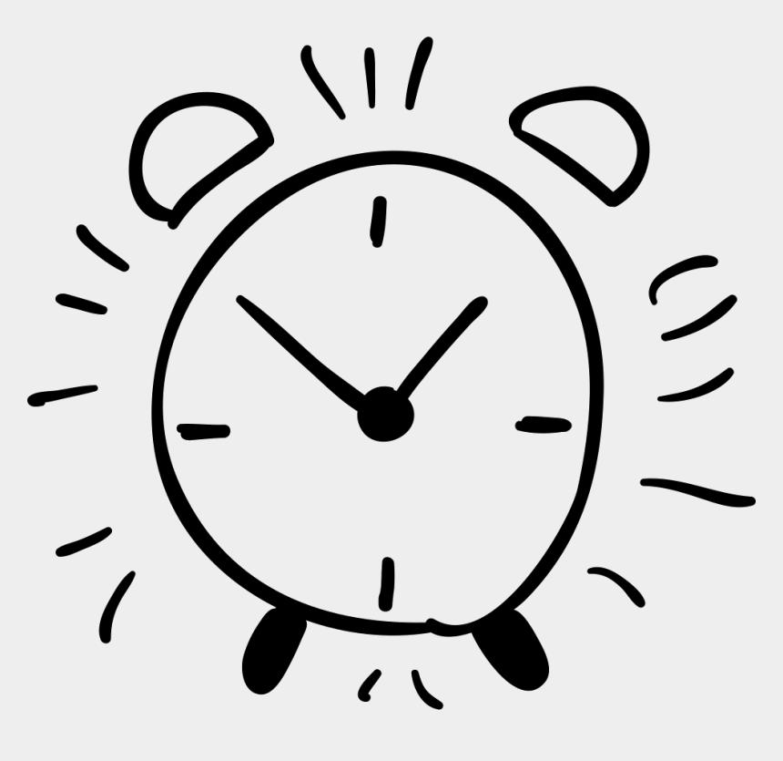 alarm clock clip art, Cartoons - Alarm Clock Hand Drawn Outline Comments - Alarm Clock Hand Drawn