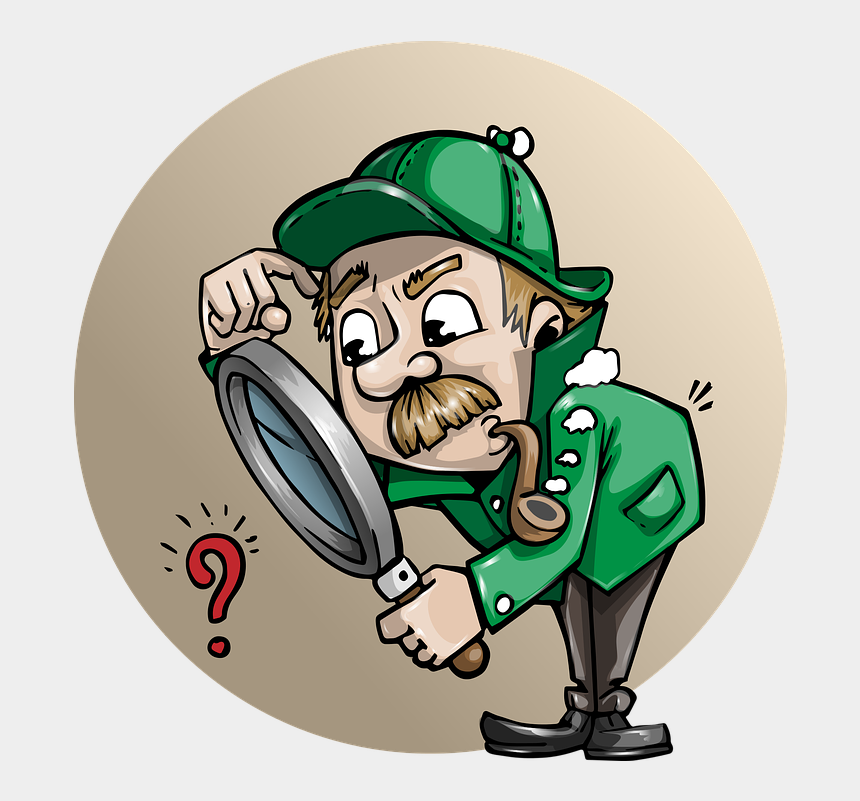 detective clip art, Cartoons - Detective Clipart Free Images Image - Man With Magnifying Glass Cartoon