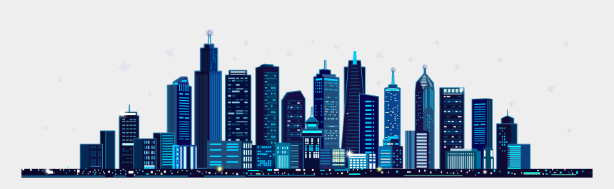 fall festival clipart, Cartoons - Blue Building City Festival M - City Building Vector Png