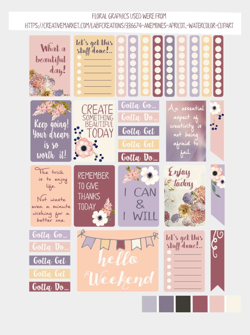 planner clipart, Cartoons - New Summer Freebie Planner Stickers And Silhouette - Beachy Planner Stickers Freebie