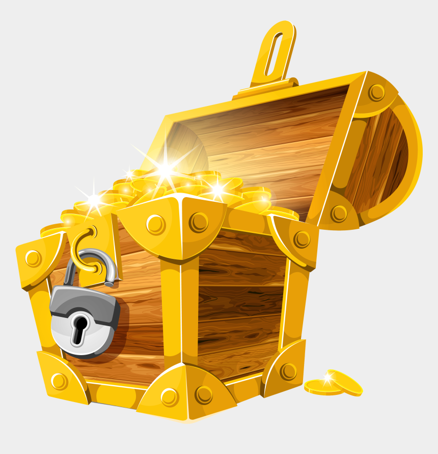 treasure chest clip art, Cartoons - Treasure Chest Clipart - Gold Treasure Chest Png