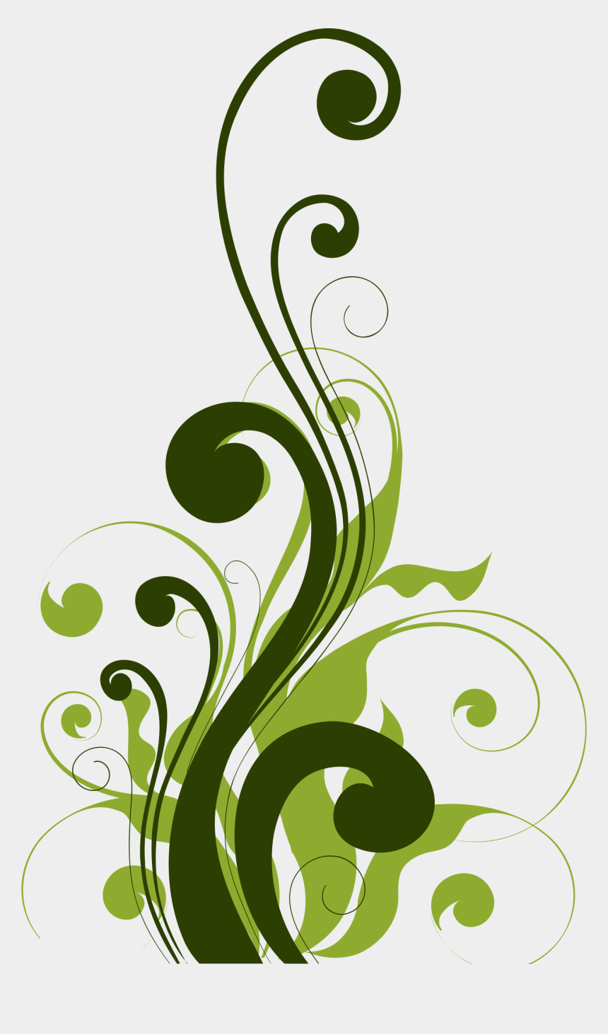 flourish clipart, Cartoons - Green Flourish Cliparts - Background Design For Scrapbook
