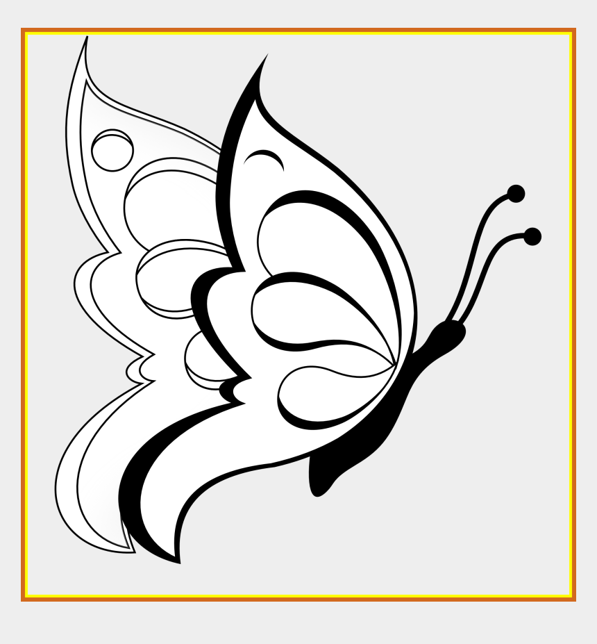 finish line clipart, Cartoons - Shocking Butterfly Clipart Black White Line Art Coloring - Butterfly To Draw Easy