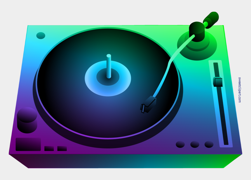 record clip art, Cartoons - Vector Record Colourful - Dj Turntable Clipart