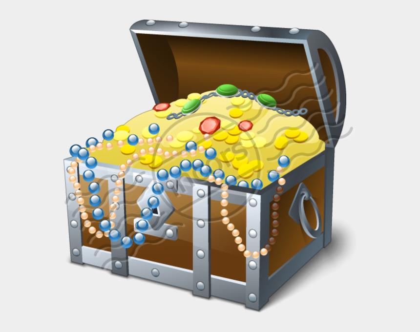 treasure chest clip art, Cartoons - Open Treasure Chest Png